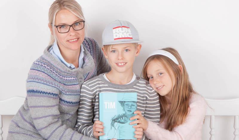 Gro Raugland og barna. Foto Caluna